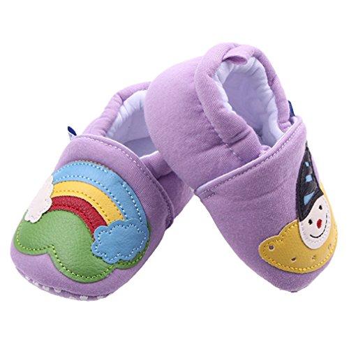 La vogue Baby Unisex Clown Muster Lauflernschuhe Violett