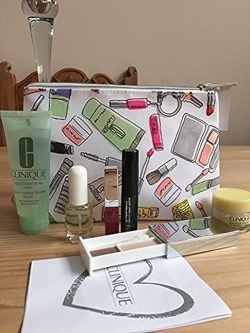 Clinique Makeup Cosmetics Travel Bag Set (7 items including aromatics in white perfume spray)