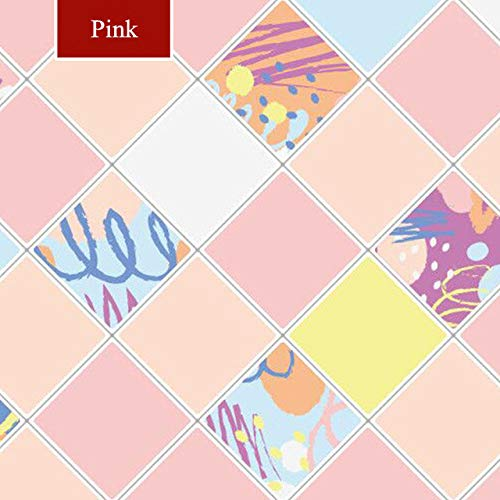 WFMJJ Hintergrundbild Küche Öl-Aufkleber Hochtemperatur-Kochfeld selbstklebende Fliesenschrank Arbeitsplatte Dunstabzugshaube Wandaufkleber Tapeten, Pink, 5mx60cm