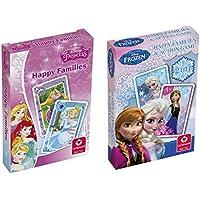 Cartamundi 10000842 Disney Princess Happy Families and Frozen Card Games (Pack of 2)