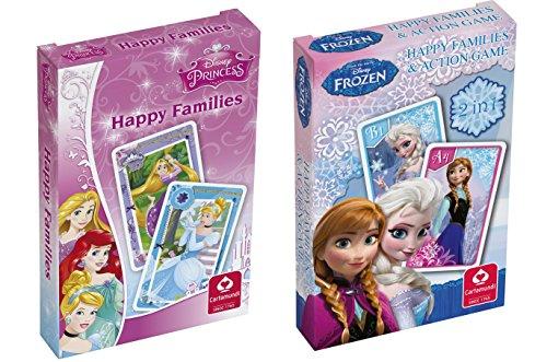 Cartamundi 10000842Lot de 2Jeux de Cartes Disney–Jeu de familles et La Reine des neiges