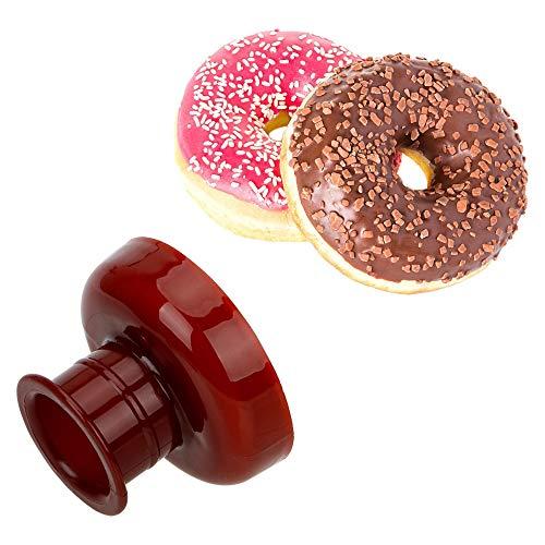Silikon Donut Back Pan/Non -Stick Donut Mold mit Rezept, Geschirrspüler, Backofen, Mikrowelle, Gefrierschrank Safe (Non-stick-ofen-safe Pfanne)