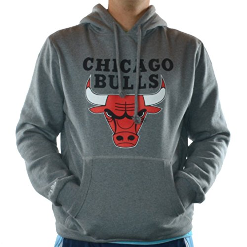 Mitchell & Ness Hoody Chicago Bulls Team Logo Grey Bulls Logo Hoody
