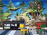 WALXMBZ Papel Pintado Mural Personalizado Papel Tapiz 3D Cuento De Hadas Castillo Parque Habitación Del Niño Decoración Del Hogar Pintura Murales De Pared 3D Papel Tapiz Para Pared 3 D, L300 * W210Cm