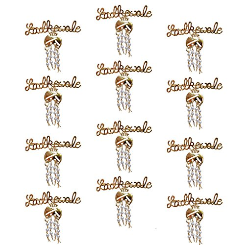 Lucky Jewellery Trendy Ladkewale Gold Plated Wedding Brouch/Brooch Pin Pack Of 12 For Men & Women