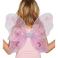 ALI DA FARFALLA ROSA - PER TRAVESTIMENTO DA FATA, FATINA E FARFALLA - Ali Di Una Farfalla