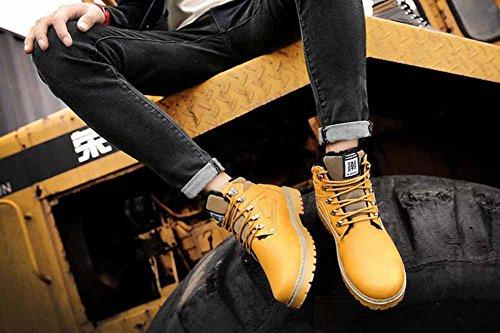 Moda Uomo Stivali Martin 2017 Modelli Invernali Autunno Tempo Libero Top Stivali Cachemire Top Stivali Caldo Stivali Da Escursioni Esteri Yellow