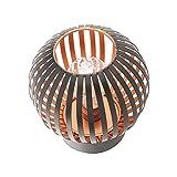 Home Decor Studio LED-Lampe im Käfig-Design, Metall, Kupfer und Schwarz, Vintage-Draht-Design, Retro-Industrielaterne (batteriebetrieben nicht im Lieferumfang enthalten)