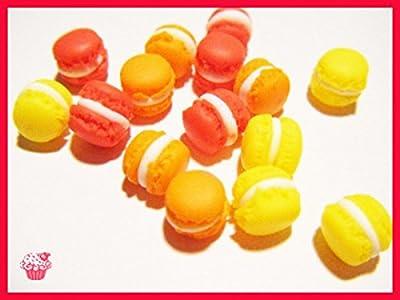 15 macarons miniatures en fimo pâte polymère pour fiole