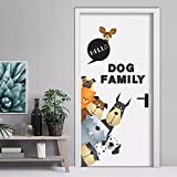 Pegatina familia perruna para clinicas veterinarias comercios o casa 80 x 70 cm de OPEN BUY