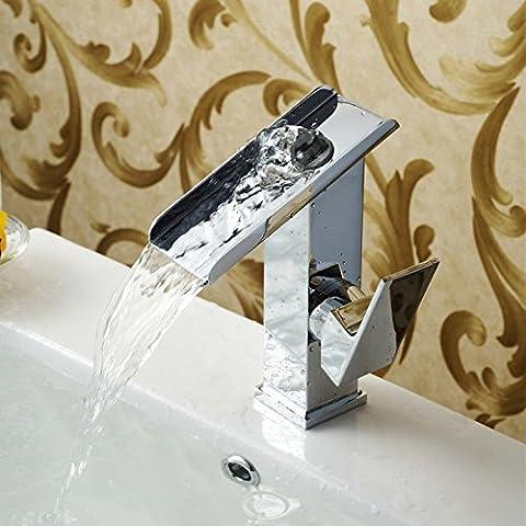 TougMoo ottone cromato rubinetto a cascata rubinetto