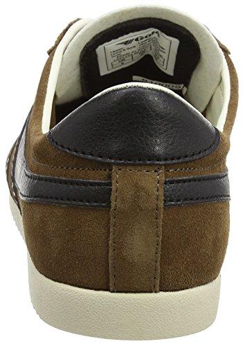 Gola Bullet Suede, Sneaker Uomo Marrone (Tobacco/black)