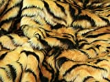 Animal Print kurz Flor Fell Stoff Tiger – Meterware +