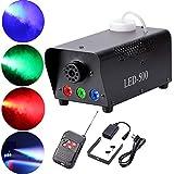 Top-Uking Máquina de humo RGB LED Luces de efectos de escenario con Control remoto para Matrimonio Cumpleaños Fiesta Partido Teatro Disco DJ(500W)