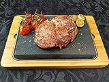 Amania Trading Ltd - 1 Pietra Calda Higoshi per Bistecca, Piastra per hibachi, griglia lavica