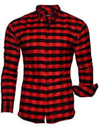KAYHAN Homme Chemise Slim Fit Repassage facile, Manches Longues Modell - Chicago