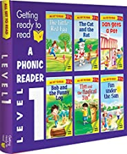 All set to Read-A Phoenic Reader-Level 1- PHONICS READERS- 6 books in a Box