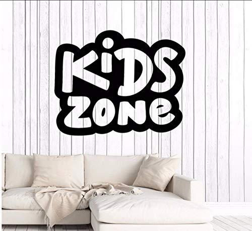 Lvabc 42X52 Cm Vinyl Wandtattoo Kinder Zone Kinderzimmer Kinder Baby Dekoration Aufkleber Wandbild Removable Home Decor Kindergarten Schlafzimmer Dekor