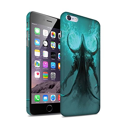 Offiziell Chris Cold Hülle / Matte Snap-On Case für Apple iPhone 6+/Plus 5.5 / Pack 10pcs Muster / Dunkle Kunst Dämon Kollektion Getarnte Teufel