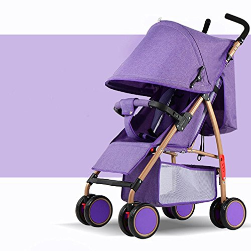 Baby's Folding Kinderwagen Sommer Outdoor leicht tragbare Kinderwagen Dämpfung vier Rädern Kinderwagen für 0-36 Monate , purple