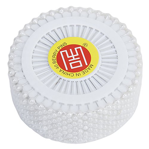 Preisvergleich Produktbild 480 Künstliche Perlen Leiter Schneiderei Hochzeit Dekoration Stecknadeln Handwerk (Weiß)