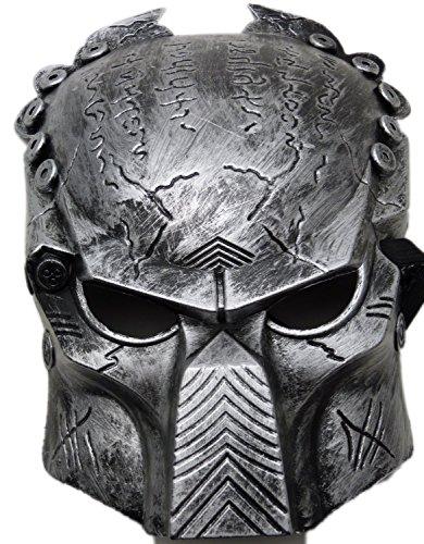N&B® MASKE PREDATOR Dunkelgrau (Maske Predator Kostüme)