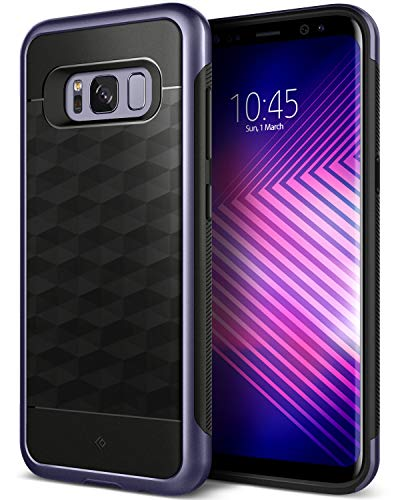 Caseology Funda Galaxy S8, [Serie Parallax] Protector Delgado de Doble Capa. Proteccion Diseno geometrico [Orquidea Gris - Orchid Gray] para Samsung Galaxy S8 (2017)