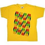 Refugeek Tees - Enfants T Shirt - Optical Illusion Cubes