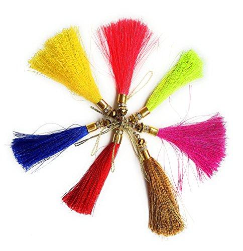Set of 14 Multi color Decorative Thread Salwar Kameez Crafting Latkans Tassels...