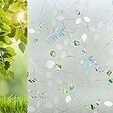 Sichtschutzfolie Klebstoffrei - 3D Dekorative Fensterfolie Sichtschutz mit UV-Schutz 45x210cm - Ezigoo