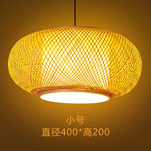 TIANLIANG04 kronleuchter Manuell Bambus Lampen Laternen Bambus rattan Bambus Restaurant mit Terrasse Zimmer Hotel Lampen, Bambus Seide Kronleuchter kleine 40 X 20 hinaus (Laterne Seide Kleine)