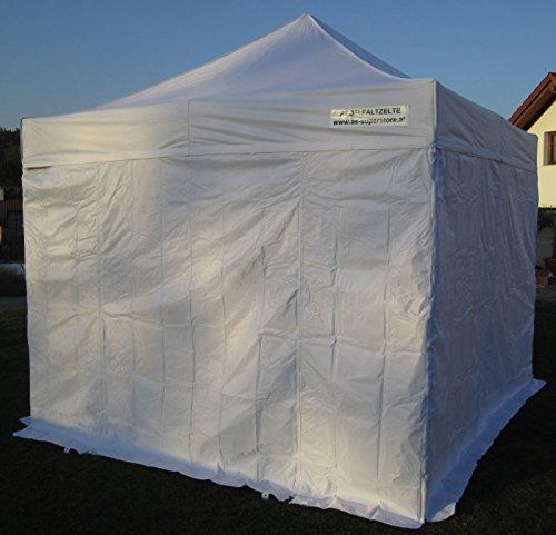 ALU Profi Faltzelt Pavillion Marktzelt Tent 3x3m 50mm HEX komplett inkl. aller Seitenteile...