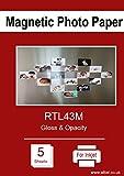 A4magnetica carta fotografica per stampanti a getto d' inchiostro, finitura lucida, x 5fogli