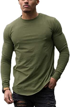 Men's Compression Shirt, Base Layer Top Long Sleeve T-Shirt Sports Gear Fitness Tights for Running Gym Workout