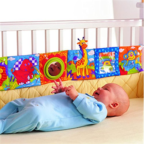 Gluckliy Colorful Infant Baby Crib Gallery Cloth Book Development Puzzle Zoo Animal Cloth Book Toy 51xkr7fXfhL