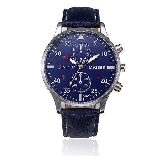 Armbanduhr Men Liusdh Uhren Legierung zifferblatt Quarz matt runde zifferblatt Uhr Retro Leader Band Uhr(A-20,Einheitsgröße)
