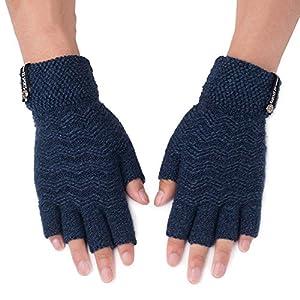Unbekannt XIAOYAN Handschuhe Herrenhandschuhe Herbst und Winter warm halten Student Writing Half Finger Bequem