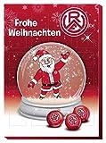 Adventskalender mit Milchschokolade ROT WEISS ESSEN (120 Gramm / 35 x 25 x 1,5 cm) Limited Fan Edition
