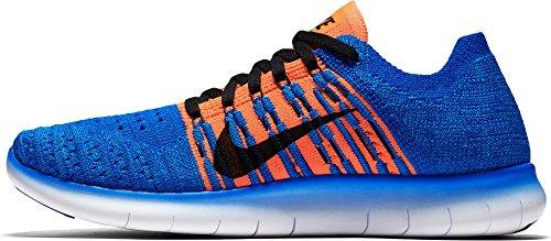 Nike Free Rn Flyknit (Gs), Scarpe da Corsa Uomo Azul (Racer Blue / Black-Total Crimson)