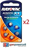 Rayovac Batterien 1,45 V 6-teilig (Set) Akkus von Geräten auditifs-acoustic Special 675/312/13/10-extra Advanced 10/13/312/675-extra Mercury Free 10/13/312/675 – 6er & in Blisterverpackung - 2x Nr. 13 Acoustic Special 6er Blister