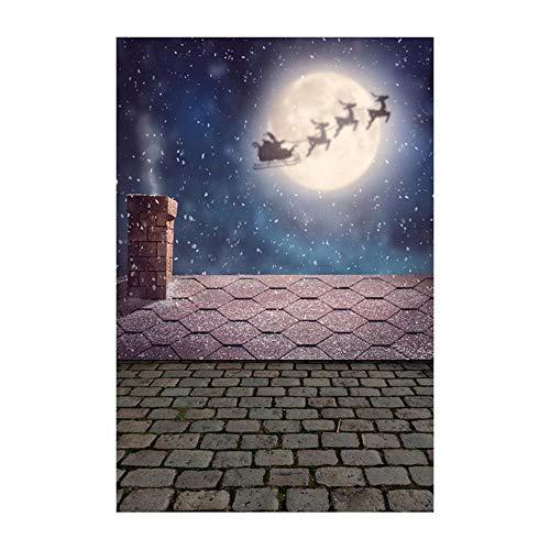 ODJOY-FAN Weihnachten Fotografie Hintergrund, 3D Aufkleber Schneemann Hintergründe Vinyl 3x5FT Laterne Hintergrund Fotografie Studio Photography Background (90x150cm) (B,1 PC)