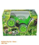 JMK Toys 3D Wireless Rechargeable Ben 10 Stunt Car with Remote Control (Green)