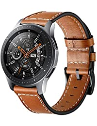 Circle Replacement Strap for Samsung Galaxy Watch, 22 mm, Leather, Stainless Steel Clasp, for 46 mm Samsung Galaxy Watch, SM-800 / SM-R805