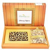 Ghasitaram Gifts Valentine Gifts Valentine Chocolate - Walnut Chocolate Bark Small with Nutties