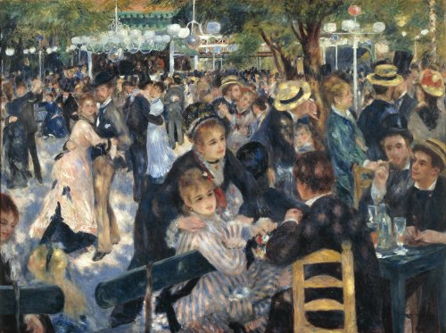 Get Custom Art Auguste Renoir - Dance at Le Moulin de la Galette 12x16 inch Canvas Print Rolled in a Tube - Tube Adult