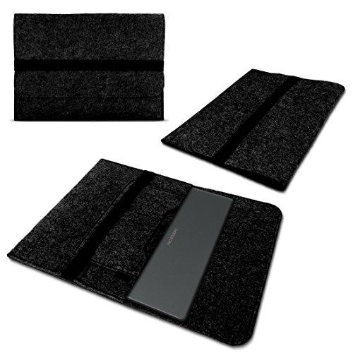 Filz Tasche für Medion Akoya E4254 S4219 S3409 E3216 E3215 Hülle Sleeve Case Schutzhülle Notebook Cover, Farben:Dunkel Grau