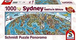 Schmidt Spiele Puzzle 59595Hartwig marrón, Ciudad de Sidney, Puzzle de 1000Piezas