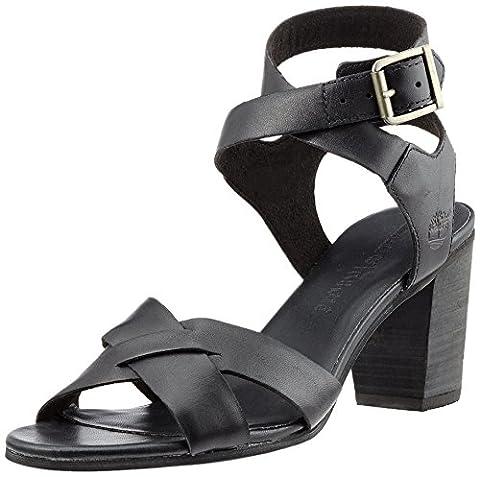 Timberland Fairhill Y-Strap Sandalblack Swank, Sandales Compensées Femme, Noir (Black
