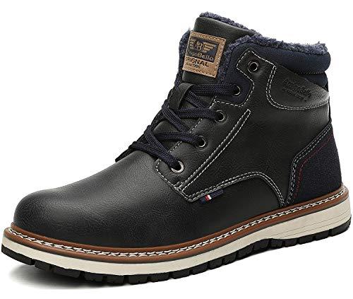 AX BOXING Hombre Botines Zapatos Botas Nieve Invierno Botas Impermeables Fur Forro Aire Libre Boots...