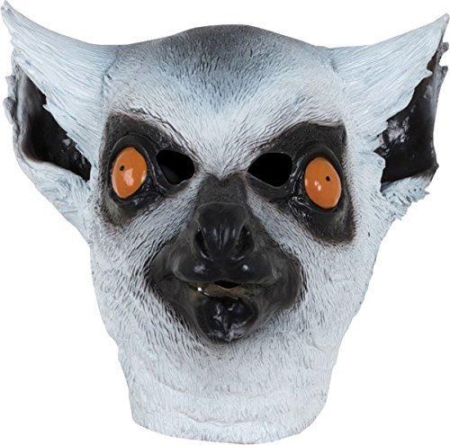 ng Kostümparty Kostümspiel Maskerade Wild Dschungeltier mit Kapuze Maske - Lemur, One Size (Lemur Halloween Kostüme)